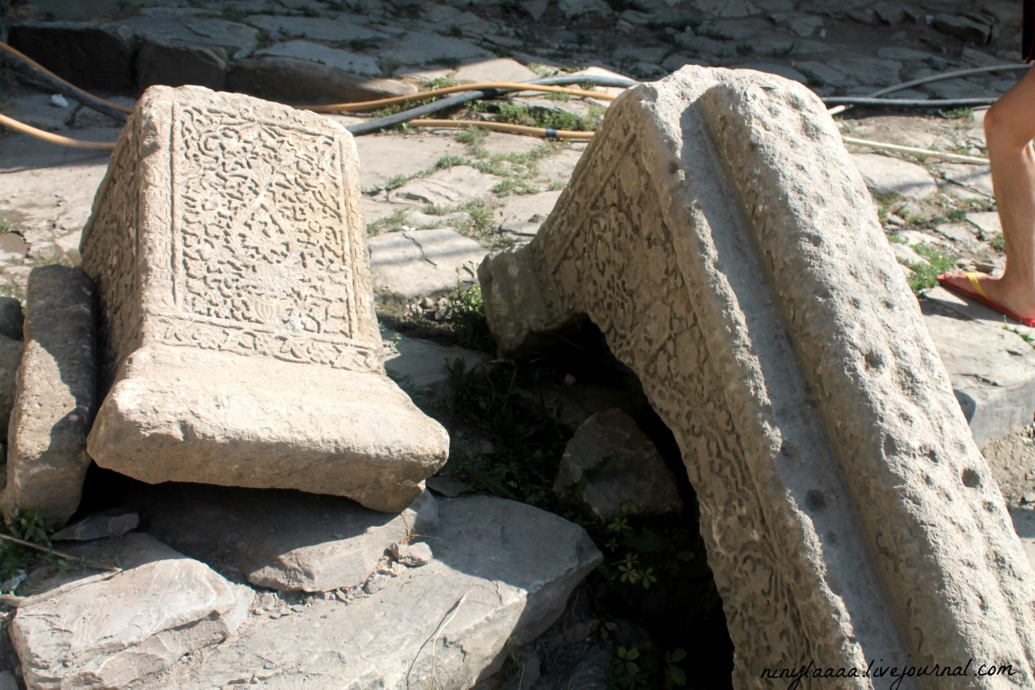 While walking around the bazaars, you can find gravestones of the Shahs. For some reason, they have been brought down from their original place in mountains. Also, pay close attention to the designs, as they also contain secret meanings.